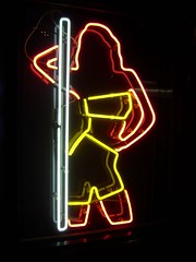 Neon poledancer