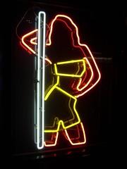 Neon poledancer