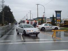 Roadblock on Bridgeport Rd