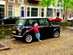 Enhanced Kid Car Photo