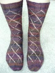 lace argyle socks