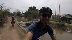 Am Fluss entlang in Richtung Vientiane