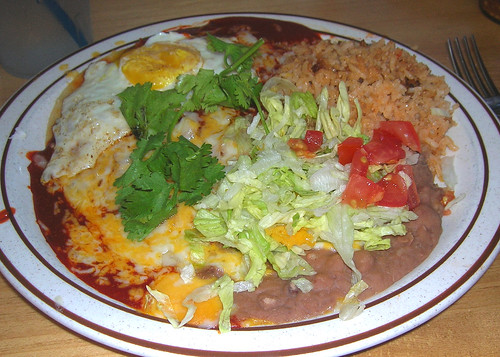New Mexico Traditional Enchilada with Egg