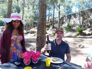 Raymonda Gontier and Nico Cyprien, creole picnic inCilaos