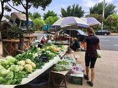 Gemüsestand in Lucheng