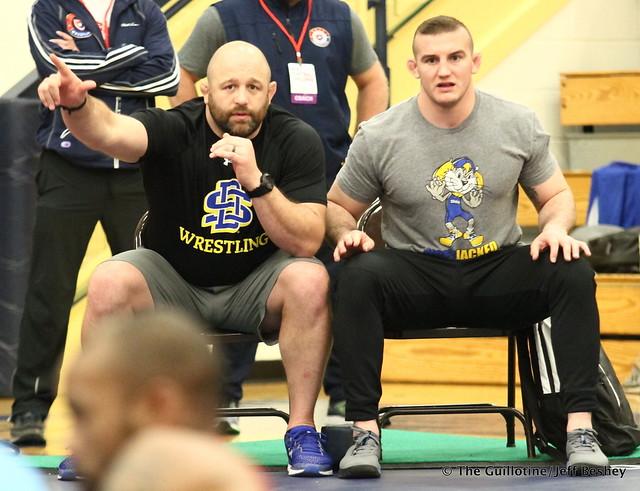 SDSU Coaches Damion Hahn and Cody Caldwell. 180519AJF0056