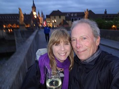 2015 06 08 Last night in Wurzburg and on the Alte Mainbruecke (old main bridge)