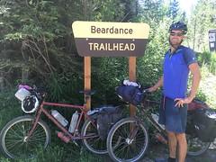 Start des Singletrails Beardance