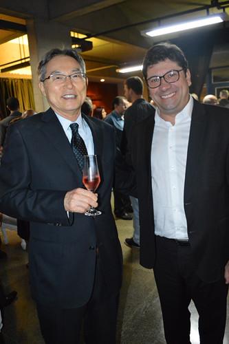 Naohiro Doi,  presidente da Cenibra, e Luís Márcio Araújo Ramos, diretor da FSFX