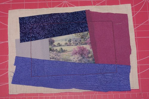Crazy Quilting Postcard - Tutorial - Step 2