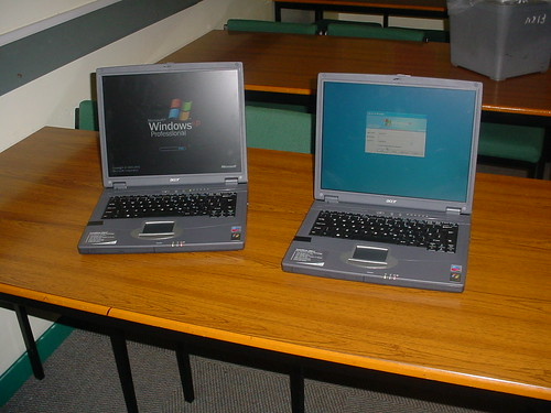 Do you issue staff with laptops or desktops?