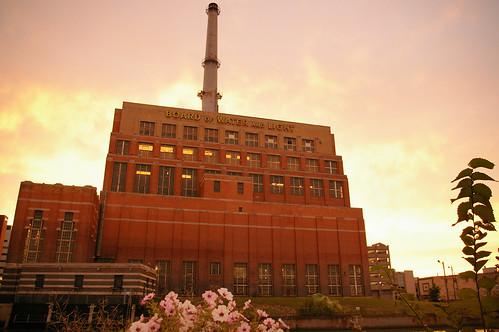 Sun sets behind Ottawa Power Station