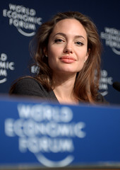 DAVOS/SWITZERLAND, 29JAN05 - Angelina Jolie, Goodwill Ambassador, United Nations High Commissioner for Refugees (UNHCR), Geneva, captured during a Press Conference at the Annual Meeting 2005 of the World Economic Forum in Davos, Switzerland, January 29, 2005.