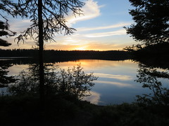 Wunderschöner Sonnenuntergang am Clearwater Lake