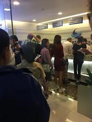 Anstehen beim Chinese Visa Application Center