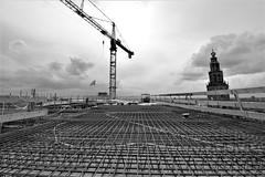 Het forum in aanbouw
