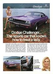 1970 Dodge Challenger advertisement