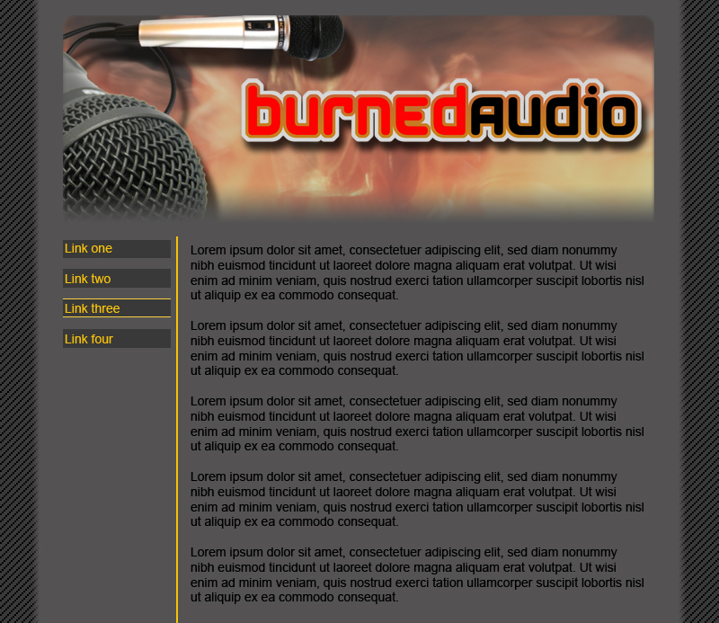 Mockup for Burned Audio