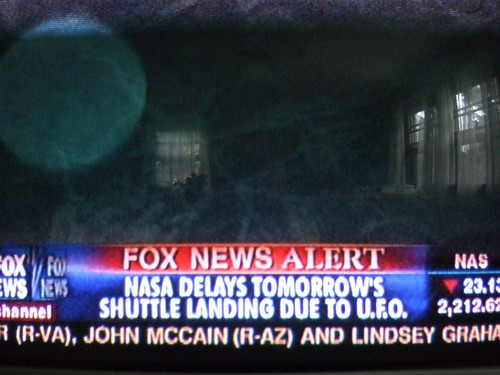 UFO delays NASA take off
