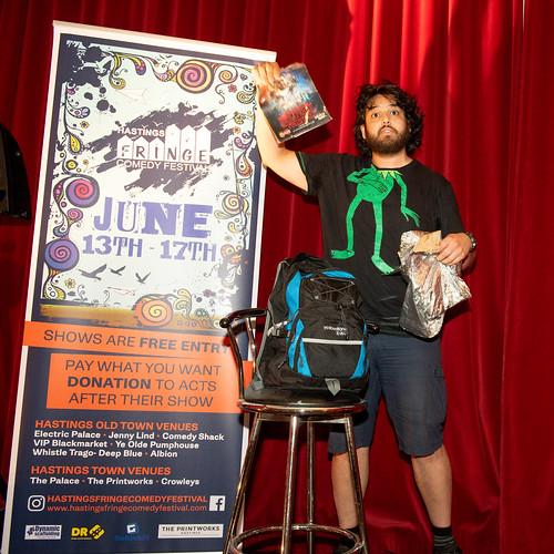 Sunjai Arif at Hastings fringe Comedy festival 2018