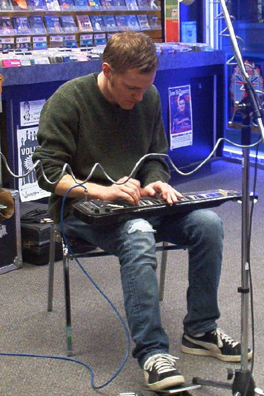 Luc Doucet live! in-store performance at Music Trader on November 8 2002