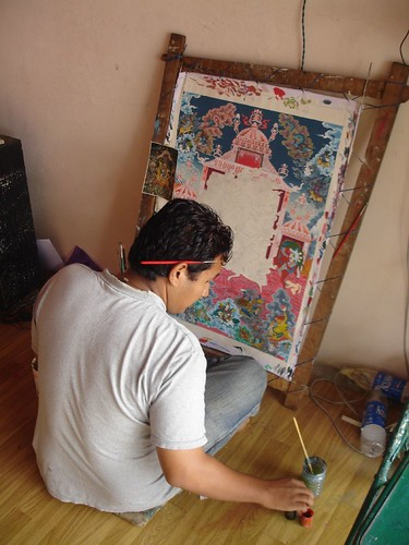 Tanka painter by Leon Meerson
