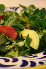 Mache, Avocado, and Blood Orange Salad