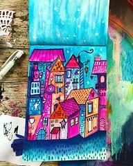 Housies. 🏠 🏡 🏠 ❤️ #willowing #willowingarts #mixedmedia #mixedmediaart #artistsofinstagram #tamaralaporte #art #tamfb