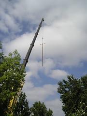 Crane and Utility Pole