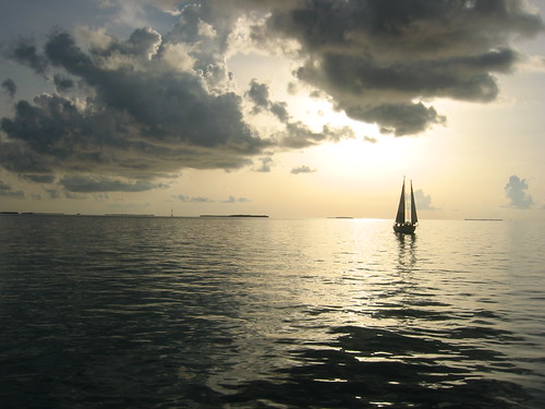 Sailing and a Key West Sunset by Asten