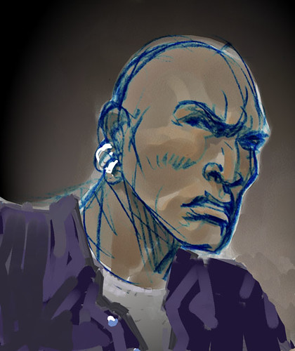 SCALPED character sketch by R.M. Guéra