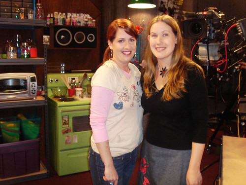 me and Jennifer Perkins on the set of Craft Lab