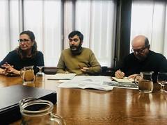Reunió amb l'AMB pel projecte de la plaça dels quatre banquets