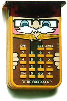 Little Professor Hand-held Calculator by draggin