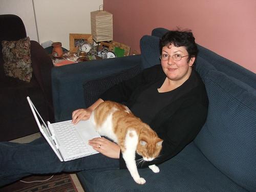 Cathy, iBook and Felix.