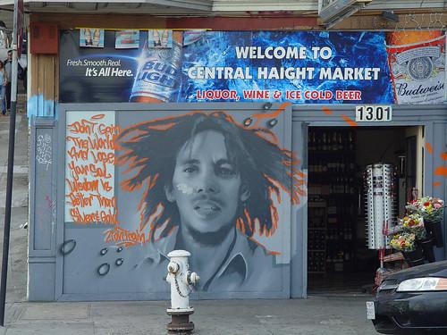 Bob Marley mural on Haight street