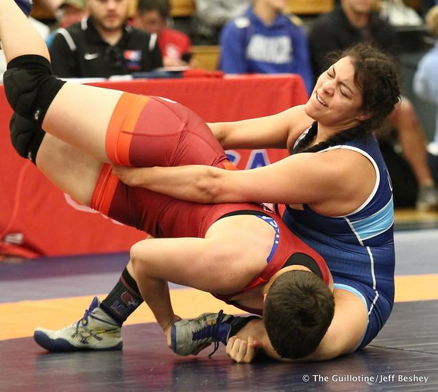 68 kg: Randyll Beltz (Army WCAP) vs. Yvonne Galindo (Aries WC). 180519BJF0169