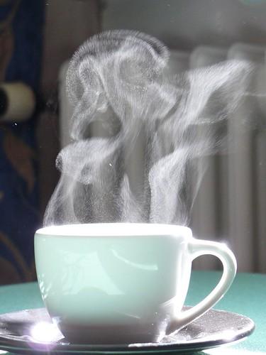 Rykande kaffe