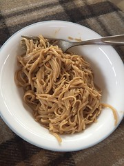 Spicy peanut noodles #glutenfree #homemade