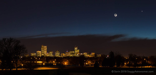 Denver with the Moon & Venus