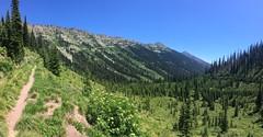 Aussicht beim Aufstieg hinter Seeley Lake