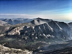 On the summit of Tabeguache Peak looking north