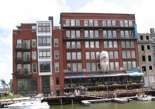 Milwaukee Ale House Viewed From the Milwaukee River