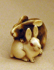 AAMSF - netsuke - rabbits
