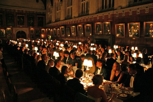 Dinner at The Hall during a conference in september 2006