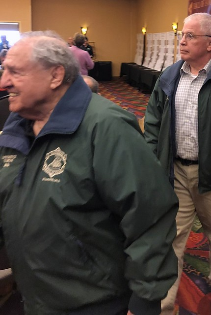Distinguished Member Alan H Rice in the Green Jacket Parade of NWHOF Lifetime Service Winners.