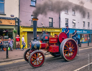 Steaming through the centre of Navan Town