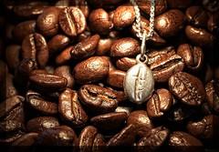 Coffee bean shaped charm