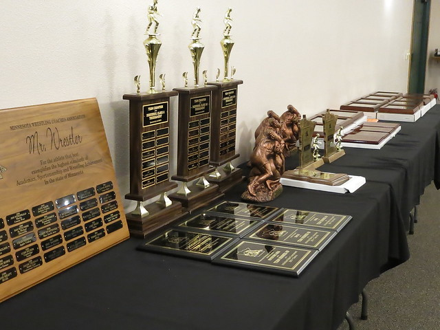 2018 Minnesota Wrestling Coaches Association Dave Bartelma Hall of Fame Banquet. 180428AJF0702
