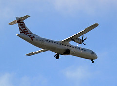 Virgin Australia Regional Airlines' ATR-72-600, VH-FVR 'Yallingup Beach', about to land in Sydney Airport